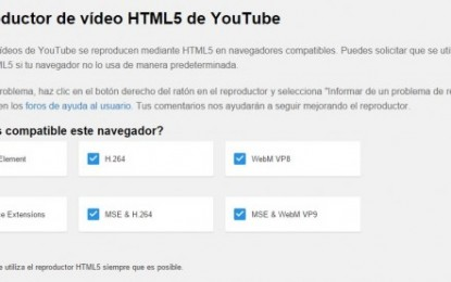 Usa la extensión /html5 para pasar de flash a html5 en youtube