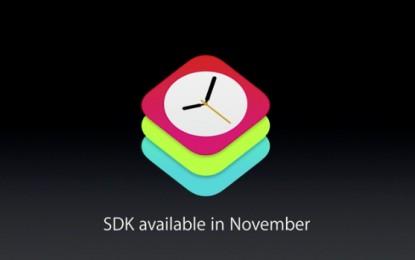 El kit de desarrolladores de Apple Watch llegará en noviembre
