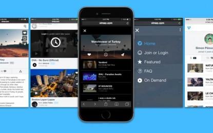 Vimeo renueva su web para navegadores de dispositivos móviles