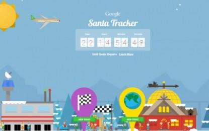 Google presenta su web para rastrear a Papá Noel, con juegos diarios y actividades de programación