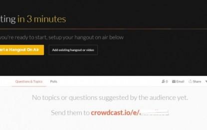 crowdcast, para tener más control en los hangouts que organizamos en Google
