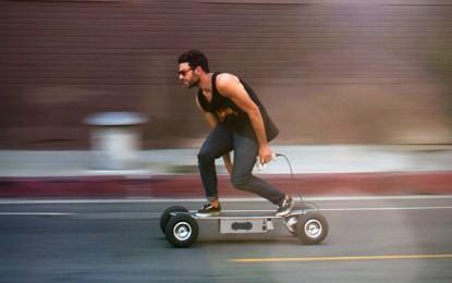 """Un monopatín """"todoterreno"""" que acelera de 0 a 35 km/h en 5 segundos"""