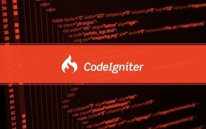 CodeIgniter, framework PHP para la creación rápida de aplicaciones web